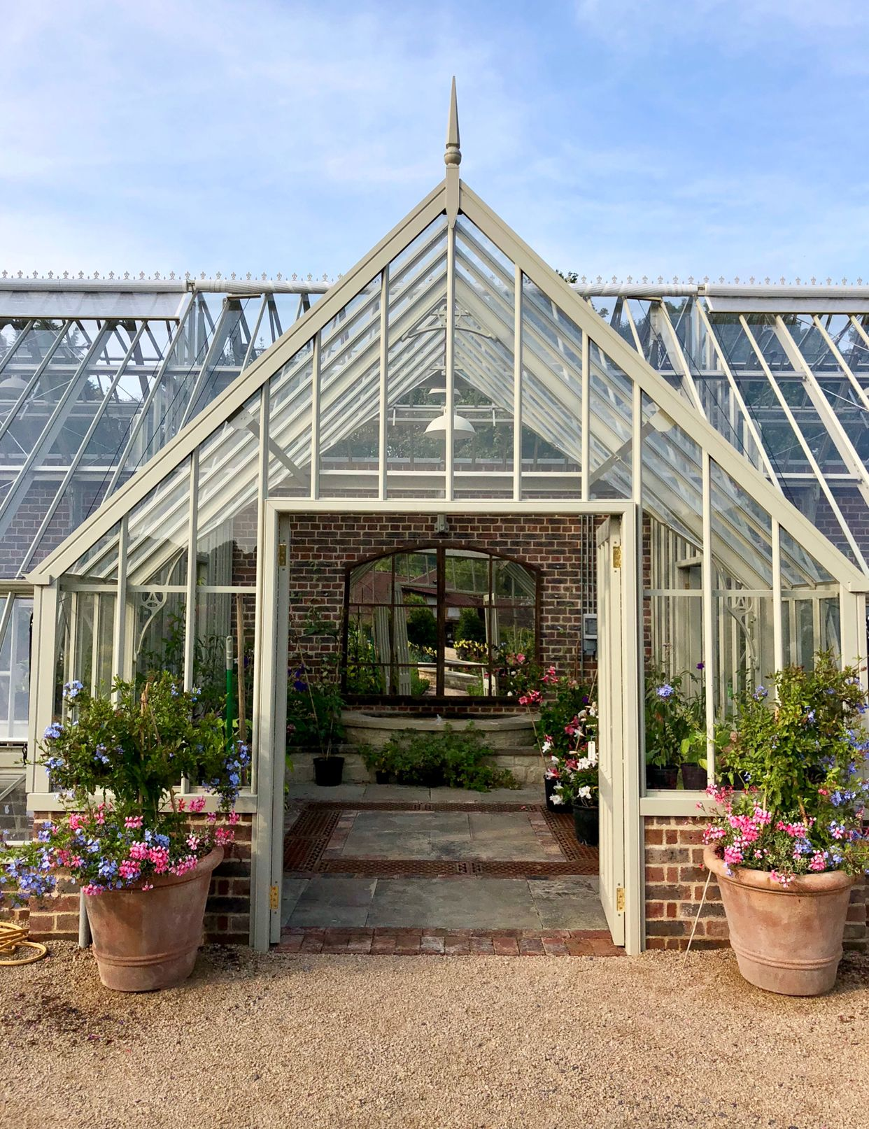Greenhouse Detail With Mirror Centred To Reflect This Beautiful