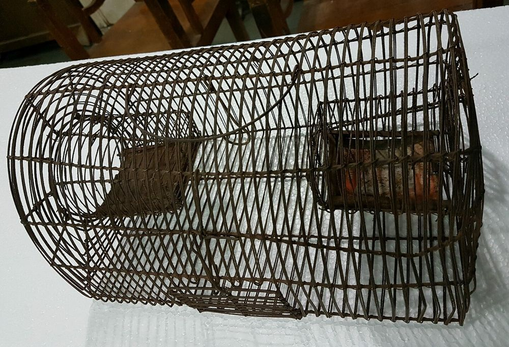Antique Mouse and Rat Trap RODENT WIRE Cage Live Catch