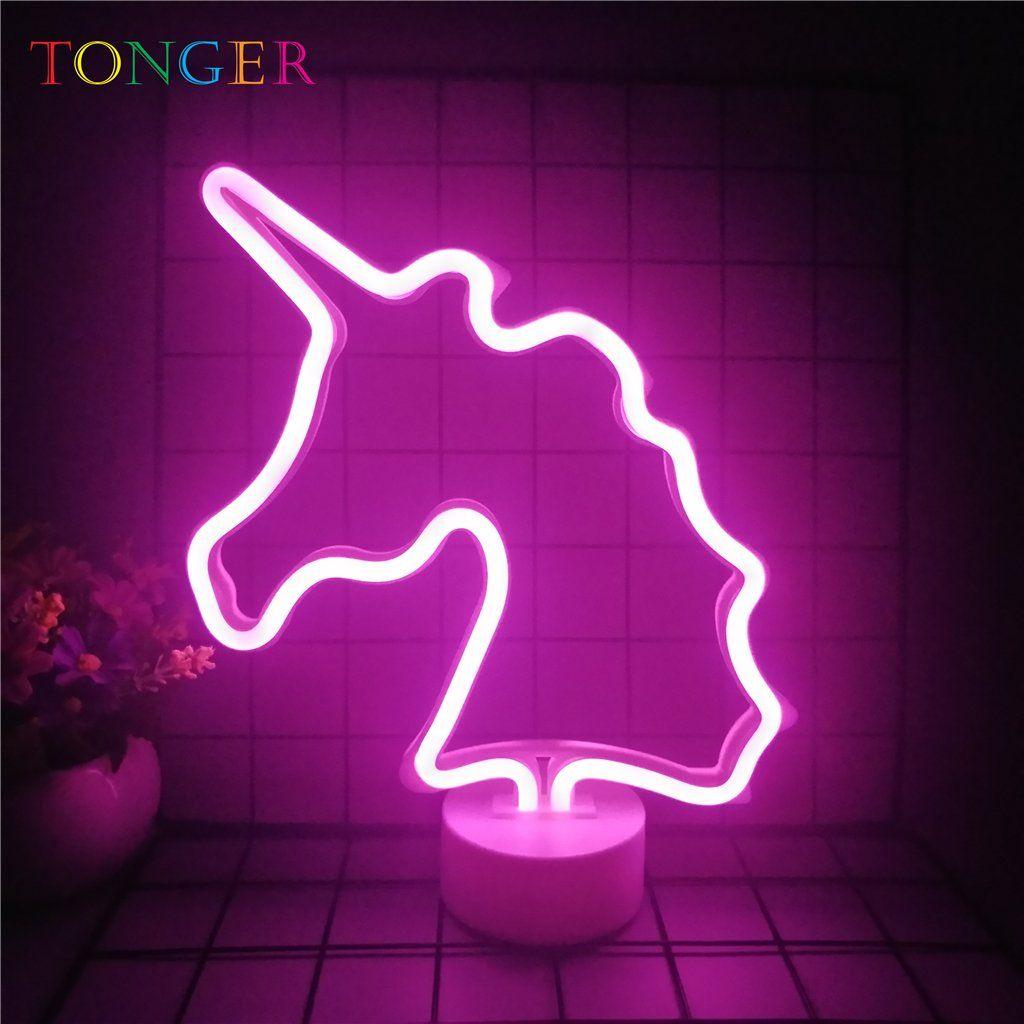 Tonger Unicorn Table Led Neon Light Led Neon Lighting Neon Lighting Neon Light Signs