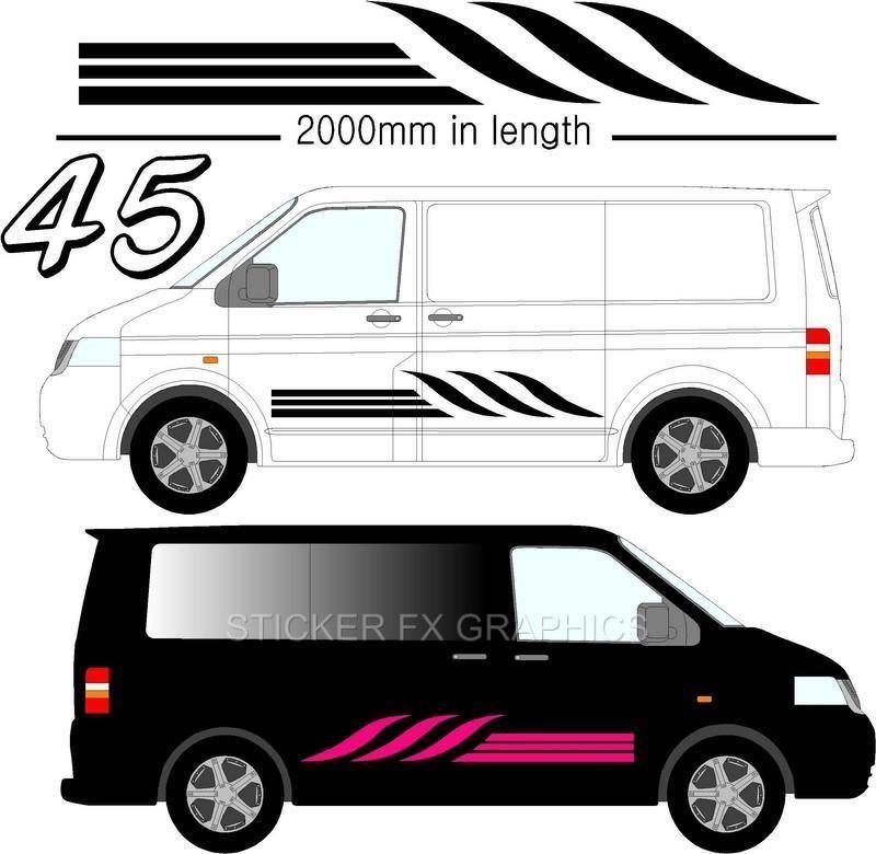 Graphic Decals Self Adhesive Vinyl Stickers Any Vehicle VW Campers - Custom vinyl stickers milton keynes