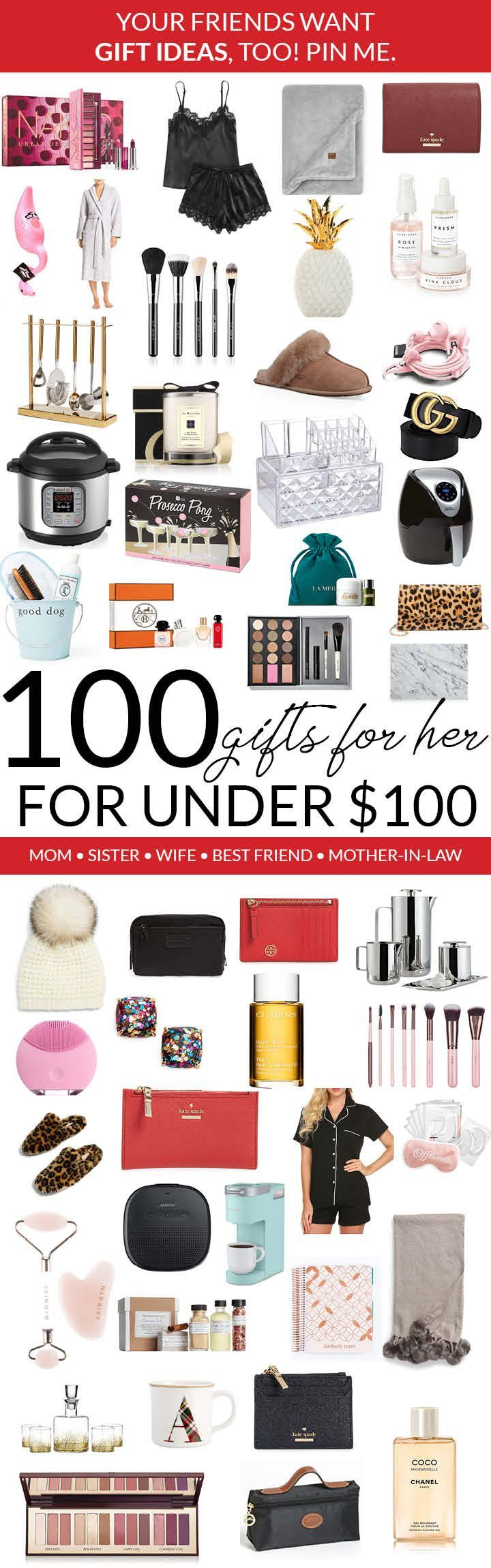 100 Gifts For Her For Under 100 2018 Gift Guide Christmas Ideas Christmas Gifts For Girlfriend Girlfriend Gifts Christmas Gifts For Mom