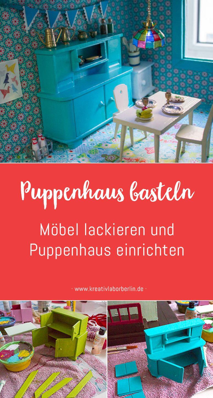Neugestaltung eines Puppenhauses: 3. Möbel lackieren und Puppenhaus ...