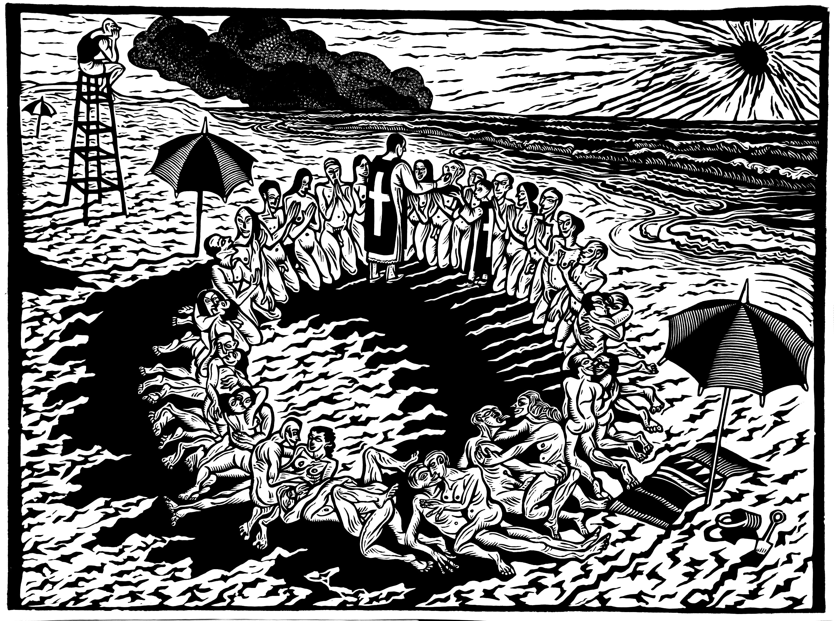 La fiesta controlada en una playa de verano. Alfredo Benavidez Bedoya