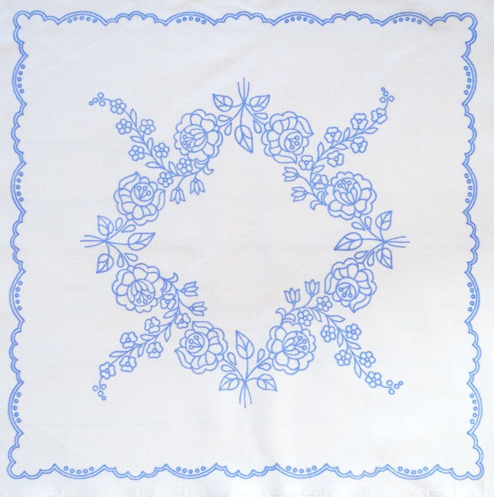 Kalocsa tablecloth pattern print from Hungary New 18 3/4'' x 118 3/4'' DIY  in Collectibles, Linens & Textiles (1930-Now), Lace, Crochet & Doilies |  eBay