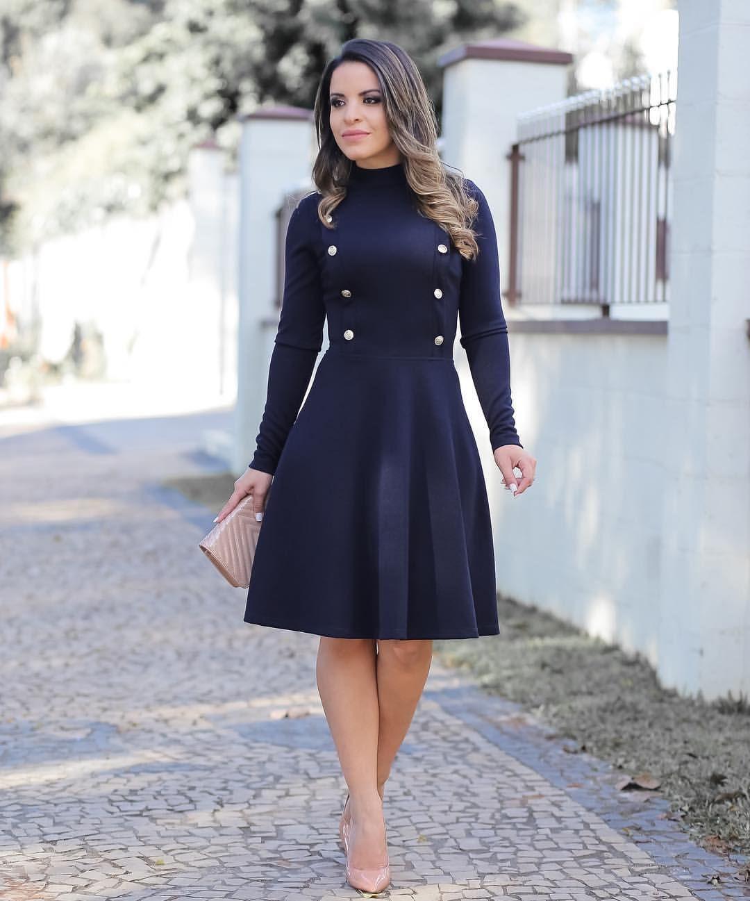 9fc8b2243 Vestido maravilhoso e elegante da  madame.mi   Azul marinho ...