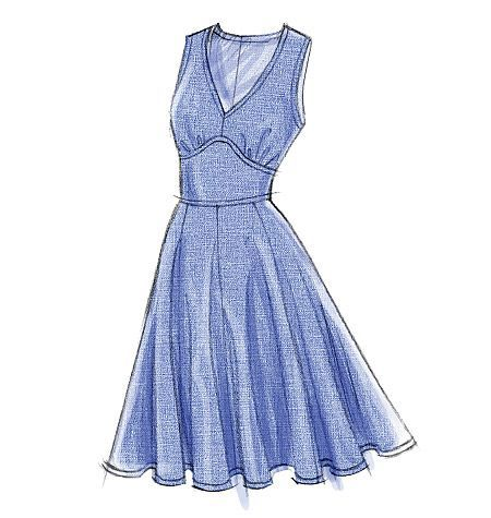 Schnittmuster Kleid Vogue 8727 EASY #schnittmusterzumkleidernähen
