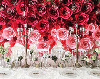 Sale Discount Paper Flower Backdrop By Maneepaperart On Etsy