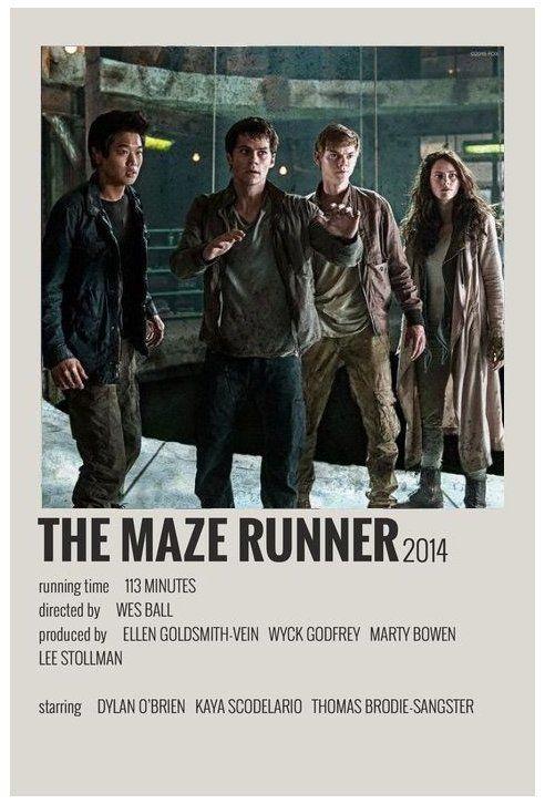 alternative movie posters maze runner