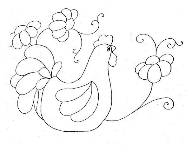 Dibujos y Plantillas para imprimir: Dibujos de Gallinas y pollitos ...