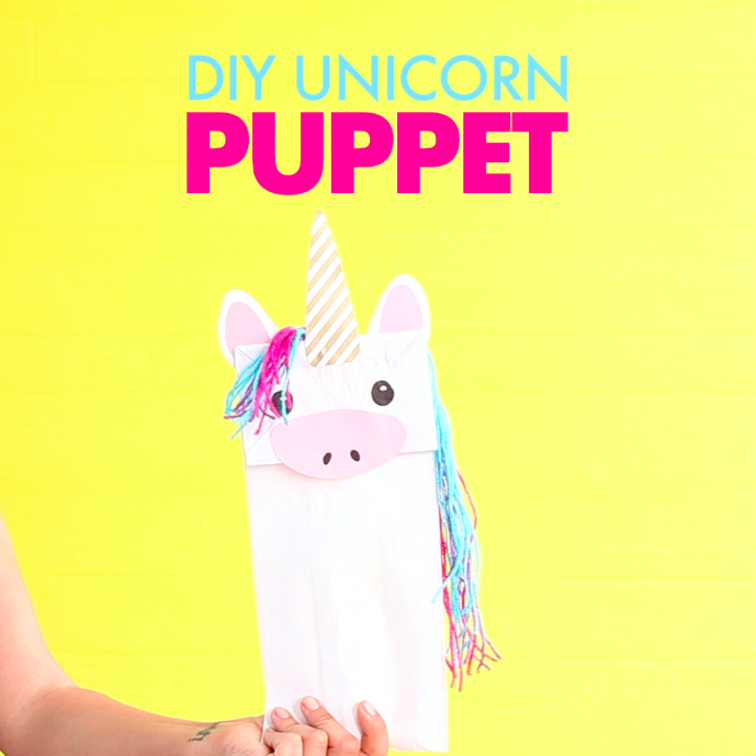 This Diy Puts A Magical Twist On A Regular Paper Bag Puppet This Whimsical Unicorn Is Simple To Create An Unicorn Theme Party Paper Bag Puppets Unicorn Crafts