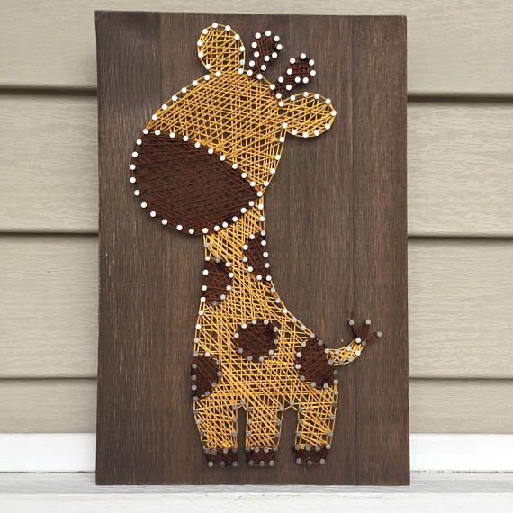 Giraffe String Art | Nursery Decor | Home Decor | Baby Shower Gift #stringart