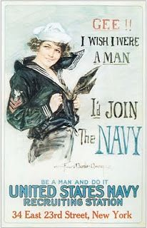 I love this vintage poster, but I'd join the Marines! But, they are part of the Navy aren't they! My brother was in the Navy...miss him...