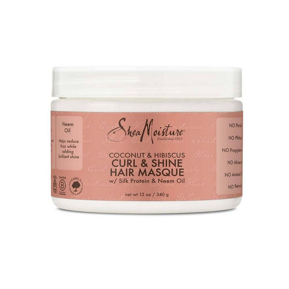 SheaMoisture Coconut & Hibiscus Curl & Shine Hair Masque - 12oz