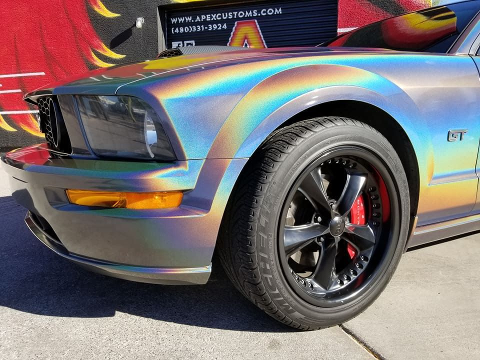 Ford Mustang Gt Full Wrap Using 3m Gloss Psychedelic Avery Dennison Gloss Carbon Vinylwrap Paintisdead Wrapnotdip Fordmustang Vinyl Wrap Vinyl Dream Cars