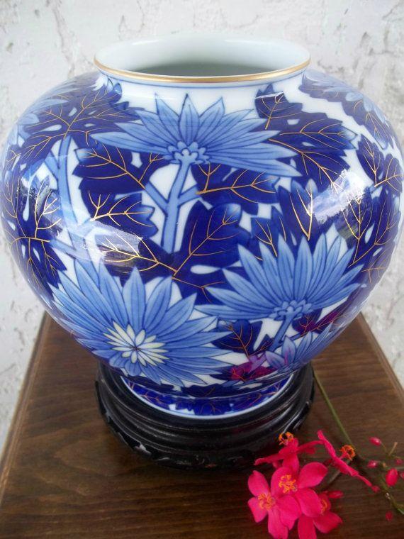 Koransha Chrysanthemum Vase Free Sh Kiku By Guamantiquesnstuff