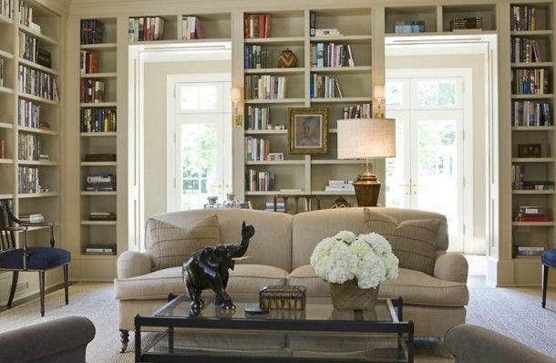 Love these bookshelves!
