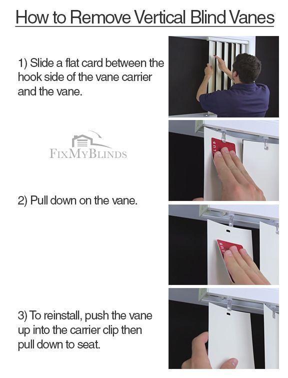 How To Remove Vertical Blind Vanes Verticalblindscover