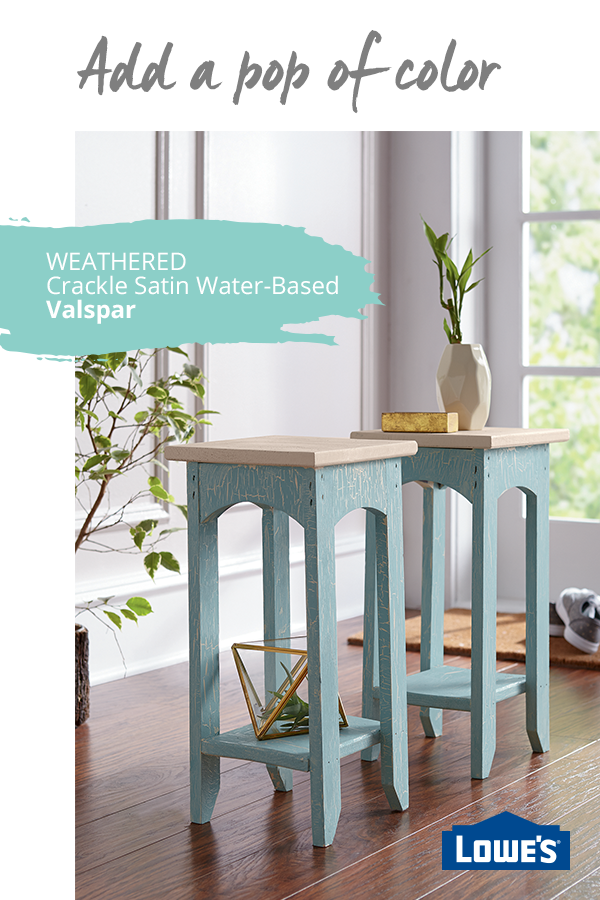 Add A Distressed Look To Your Favorite Shade Of Paint With Valspar Weathered Crackle Glaze This Easy To Use Finish Decoracion De Unas Casitas Disenos De Unas