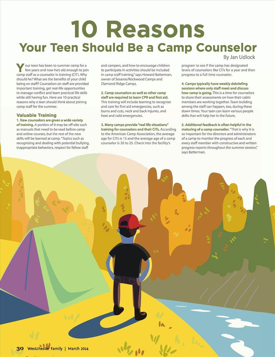 10 Reasons Your Teen Should Be A Camp Counselor Westchester Family