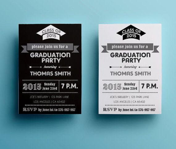 grad party invites templates