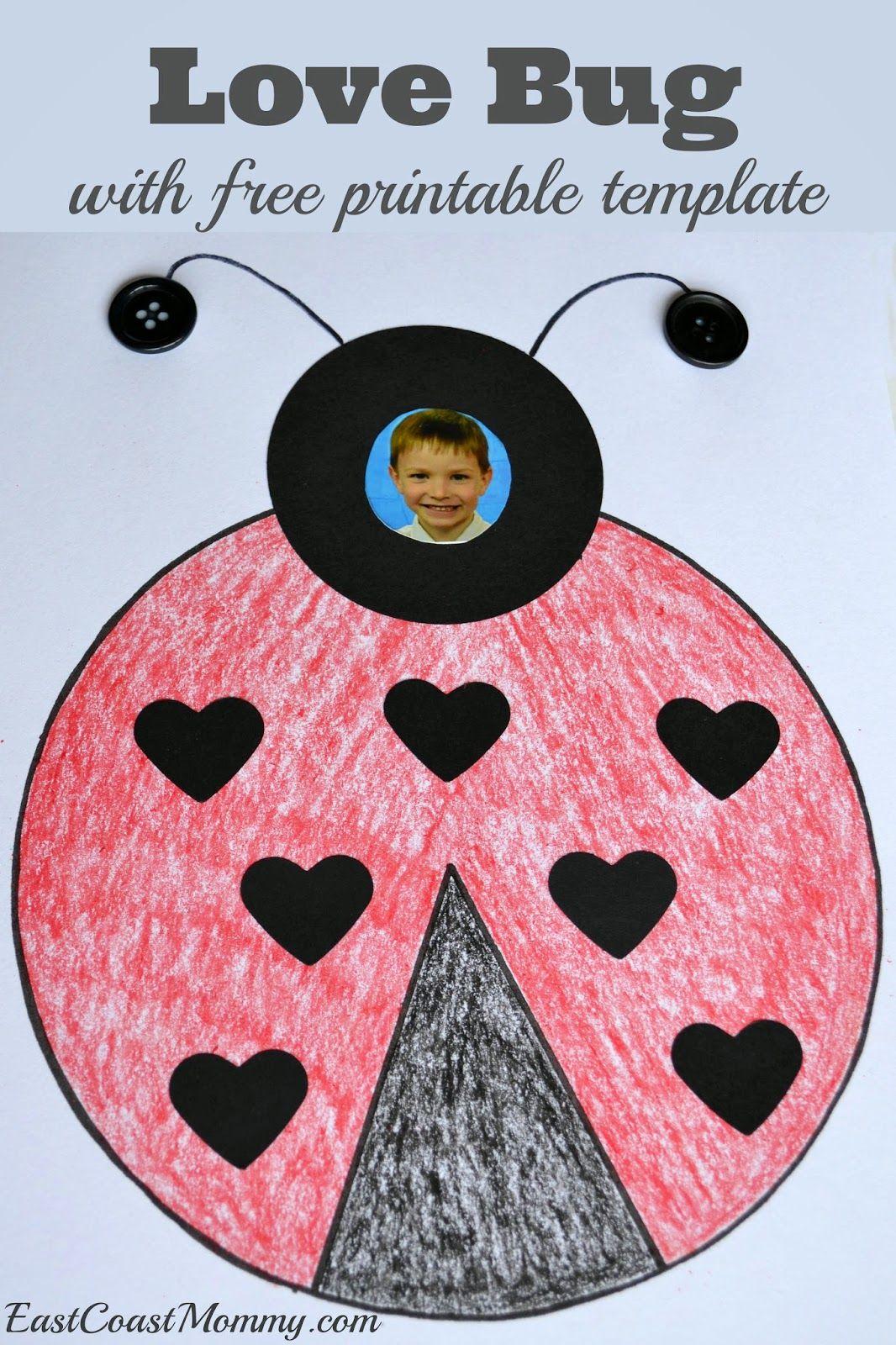 Number Crafts Number Seven Lovely Love Bug