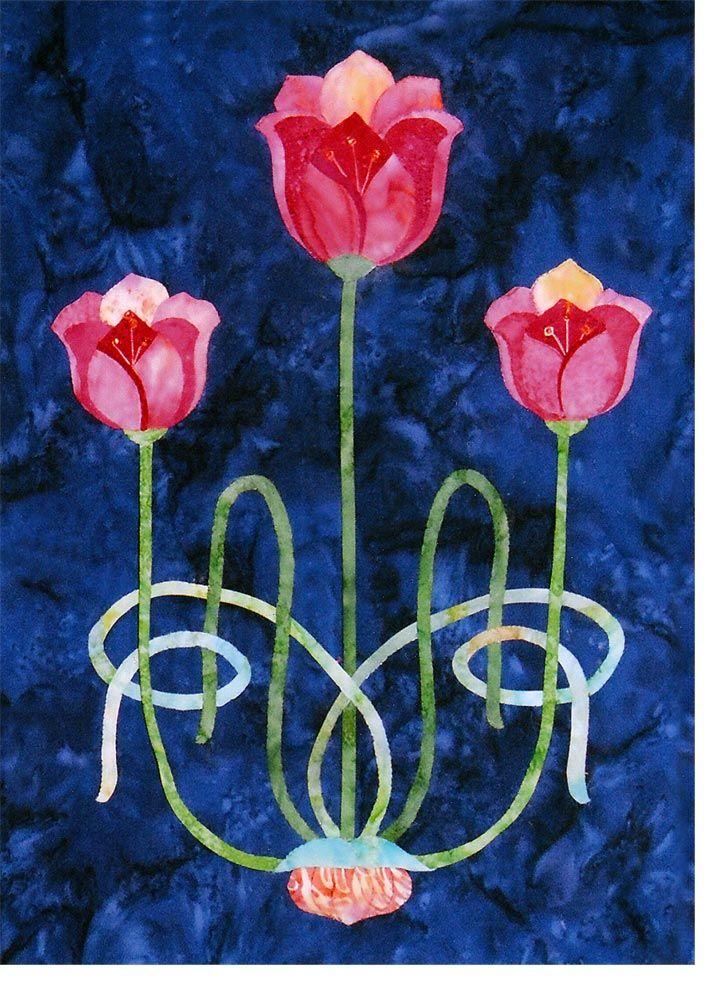 Sunset Tulips | Craftsman Quilts | Pinterest | Jugend, Jugendstil ...