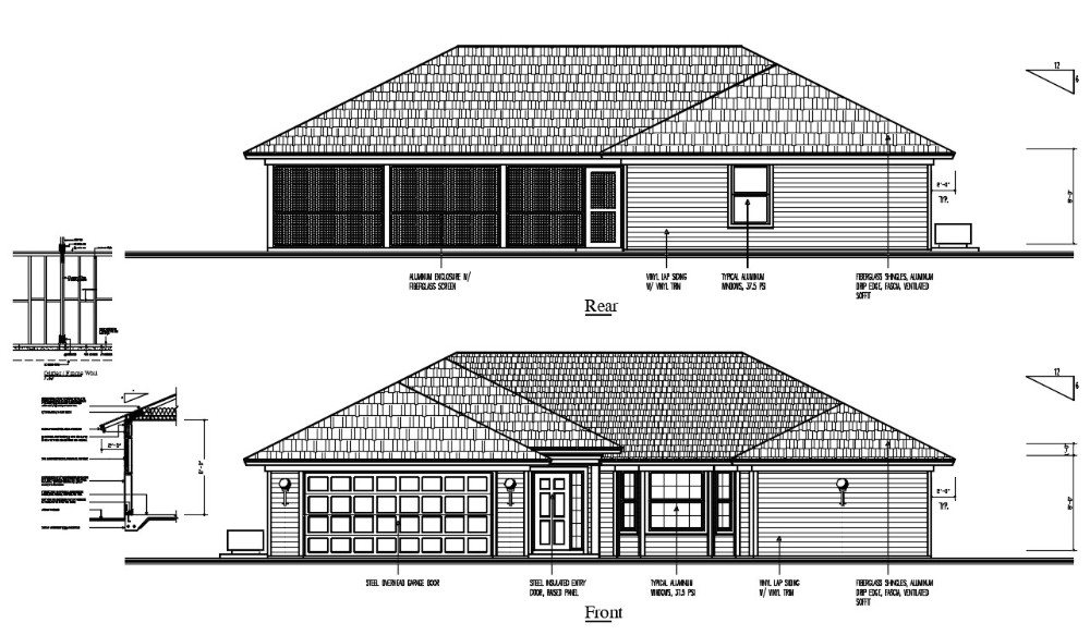 House Elevation Design With Clay Roof Tile Dwg File In 2020 House Elevation Clay Roof Tiles Bungalow Design