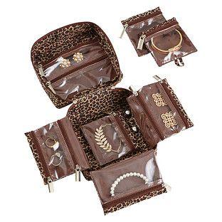 inbag Leopard Large Jewelry Organizer inbag Earring Stays