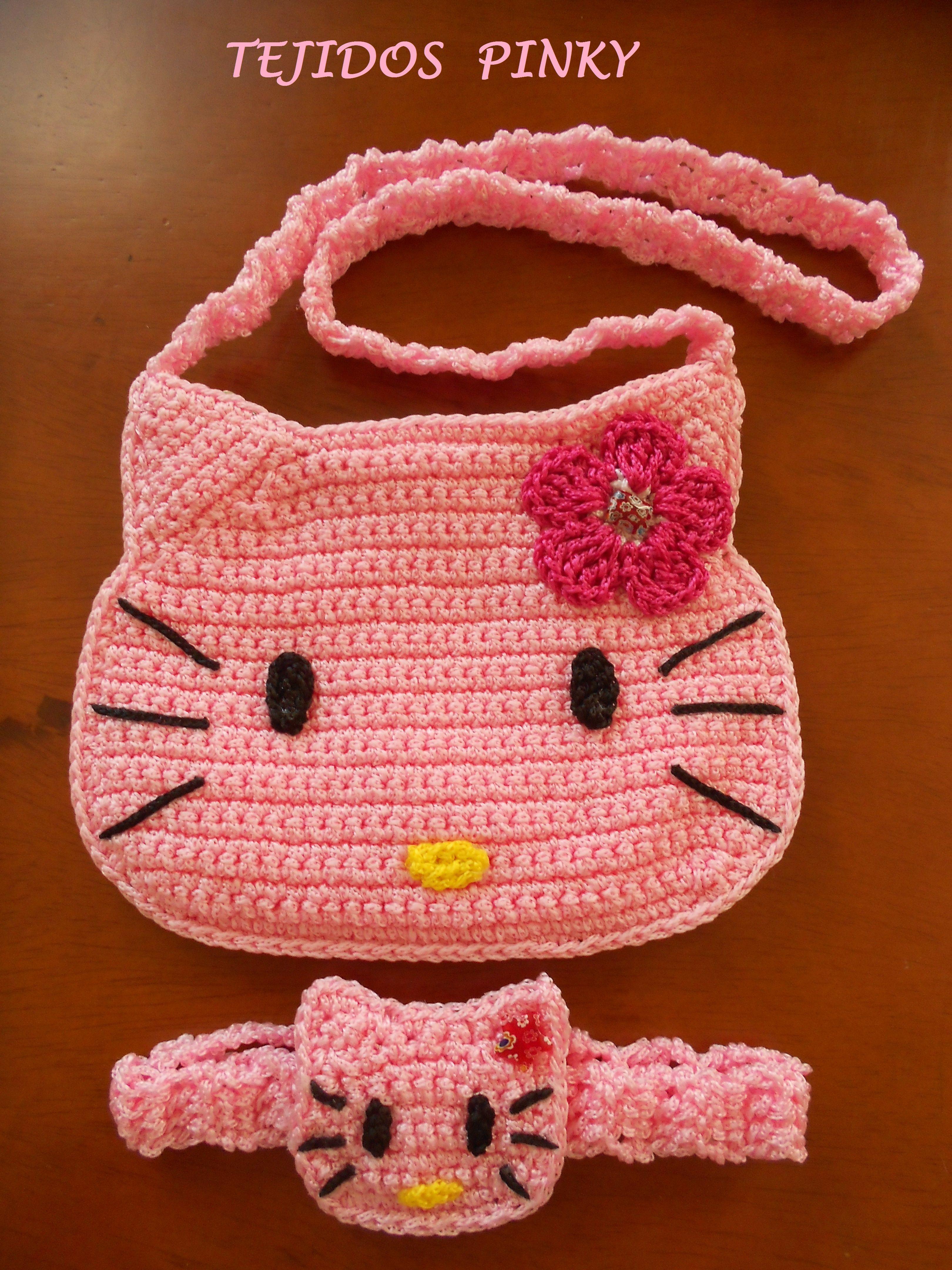 CARTERA + CINTILLO DE HELLO KITTY | Ideas crochet | Pinterest ...