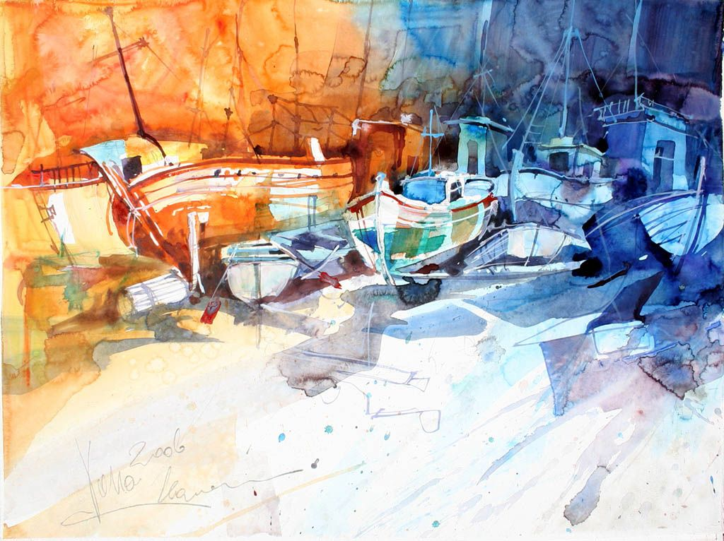 Koroni 02, 70x50 cm/27,6 x 19,7 inch, Water Colour Painting Voka