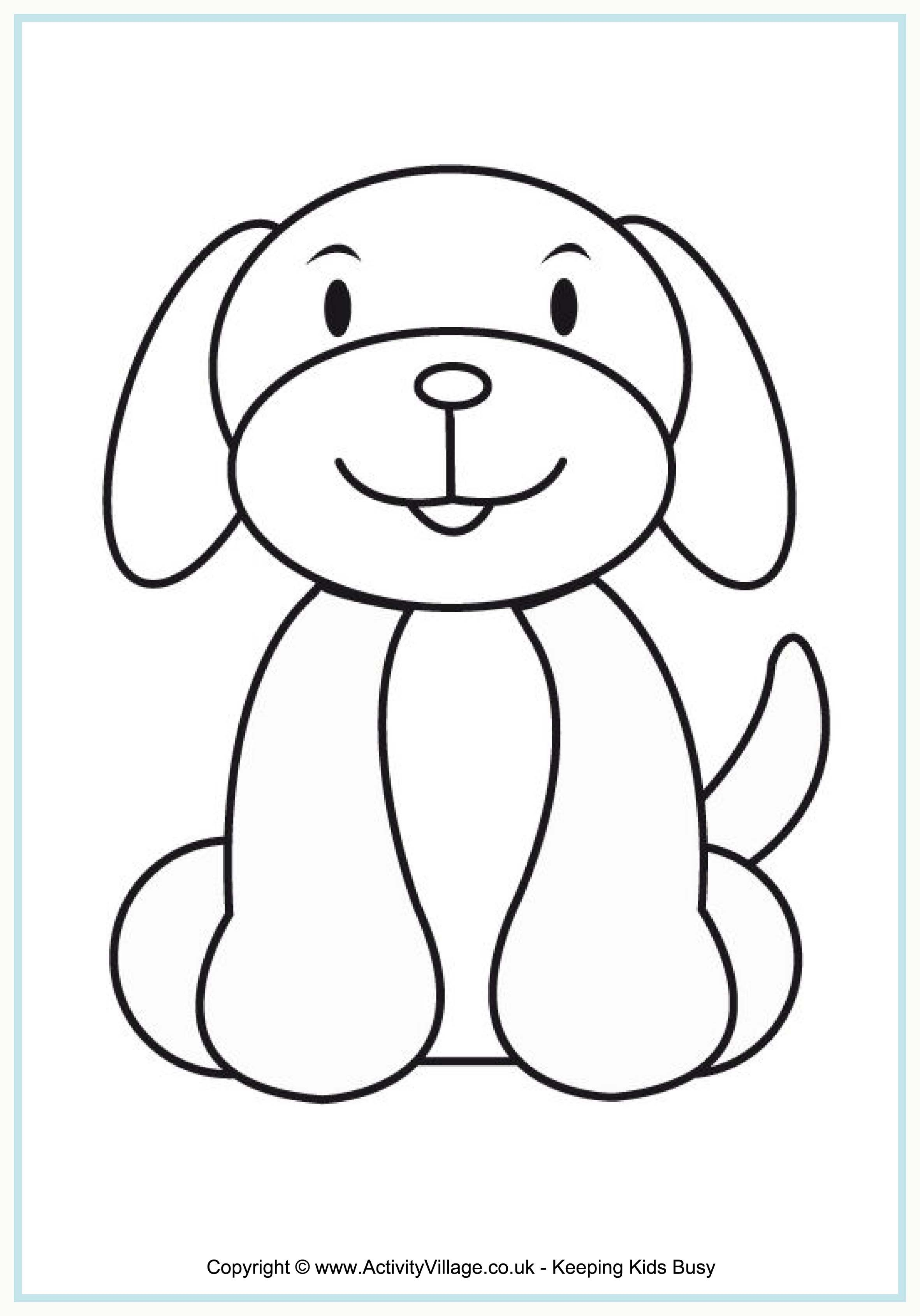Pin By Bojana Cvetanovic On For Children Dog Coloring Page Dog