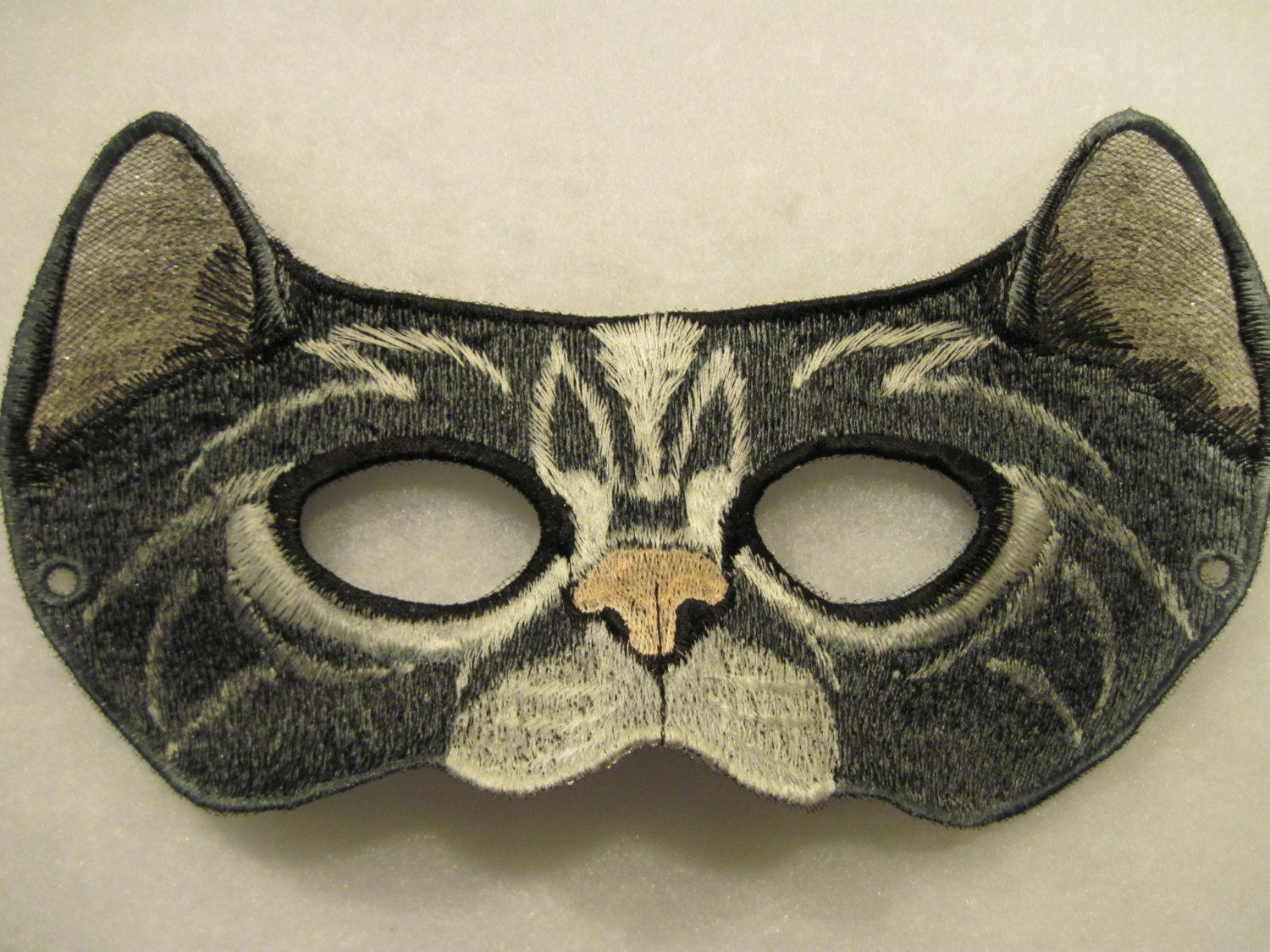 Cat Eyes Mask - in Black and Gray. $18.00, via Etsy.