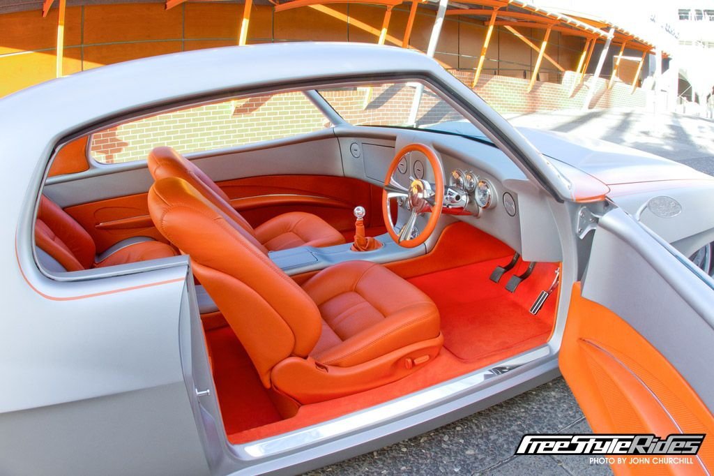 1972 Holden HQ GTS Monaro Grey Silver Orange Interior
