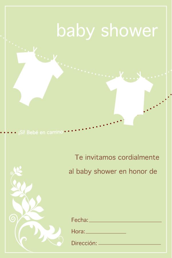 Tarjeta Para Baby Shower Baby Shower Invitaciones