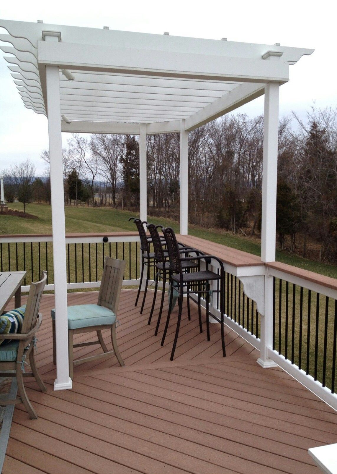Bar Rail On Composite Deck