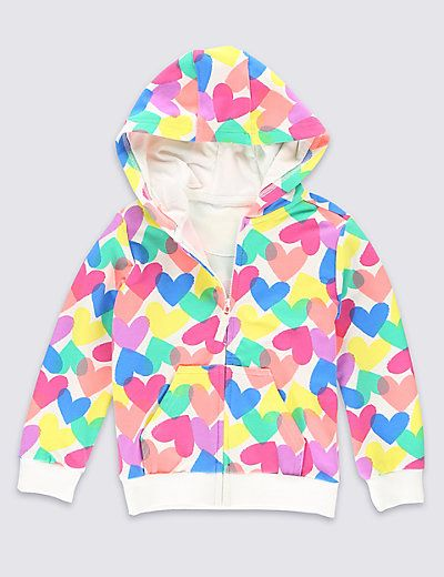 efa913590233 Heart Print Hooded Top (1-7 Years)