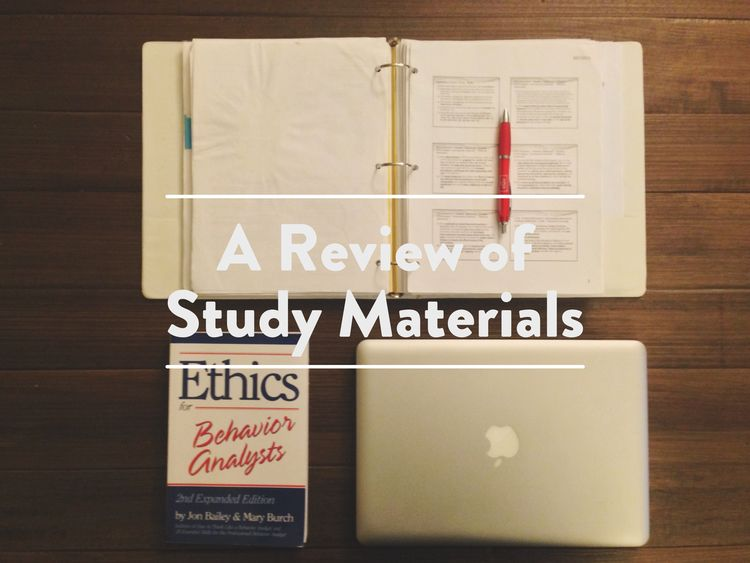 A review of study materials the bcba mom with images