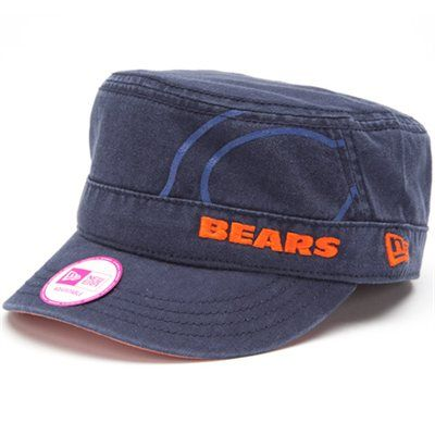 da89200c5c7 New Era Chicago Bears Women s Goal-To-Go Military Adjustable Hat - Navy Blue