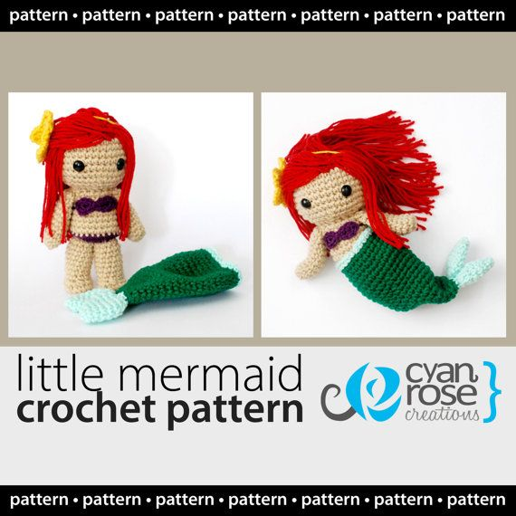 Little Mermaid Crochet Pattern - Instant Download - Little Mermaid ...