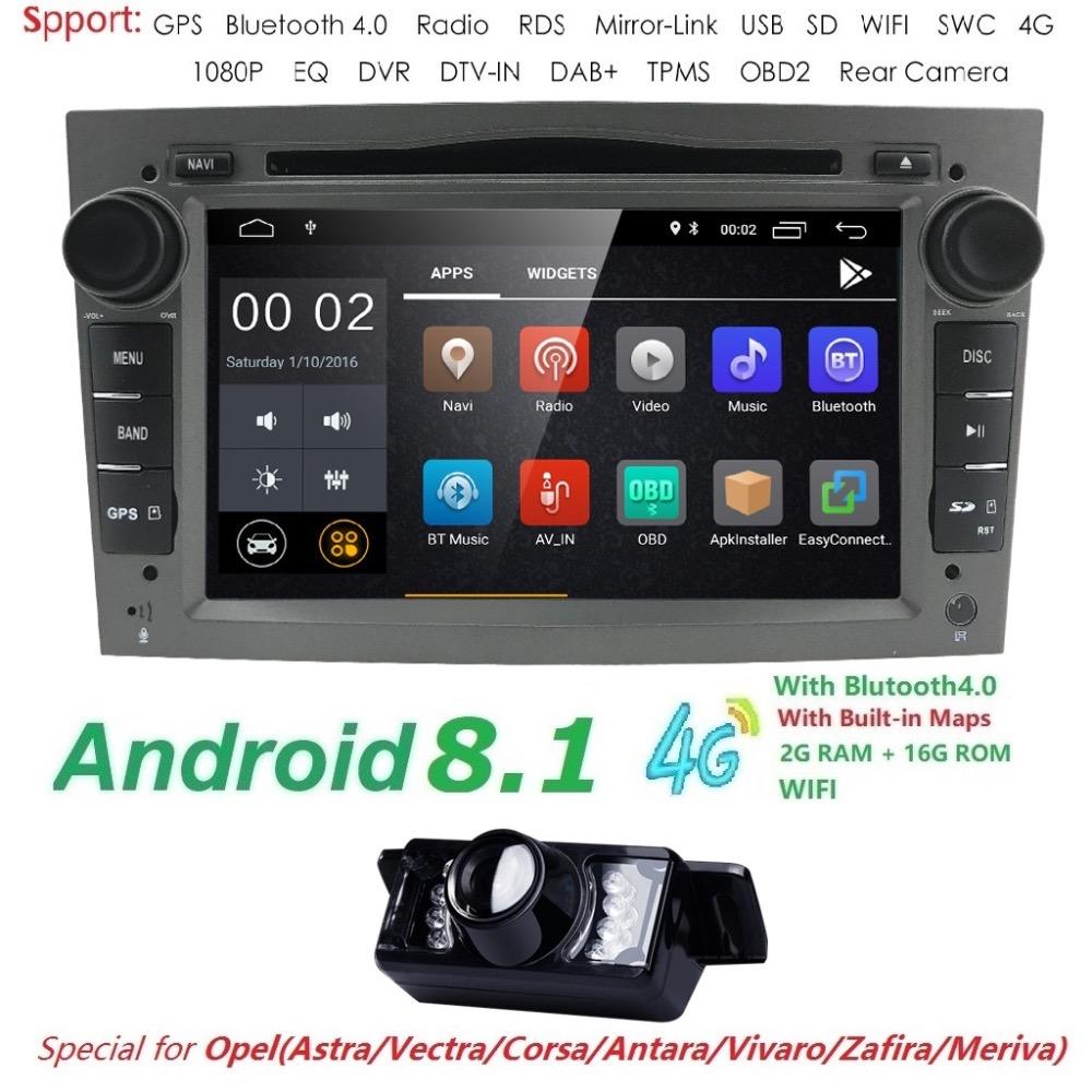 Android 8.1 GPS Navigation Head Unit For Black Opel Zafira Vectra Antara Astra