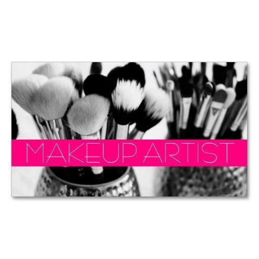 Artist Salon Beauty Cosmetologist Business Card