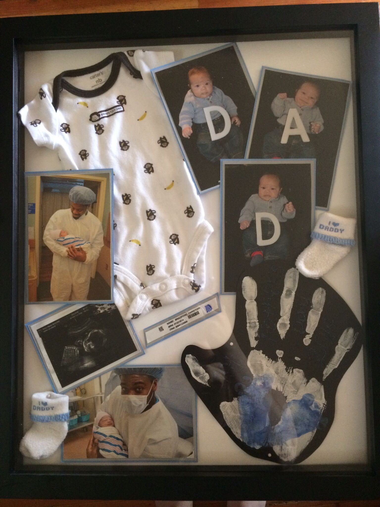 First Father's Day shadow box! Diy father's day gifts