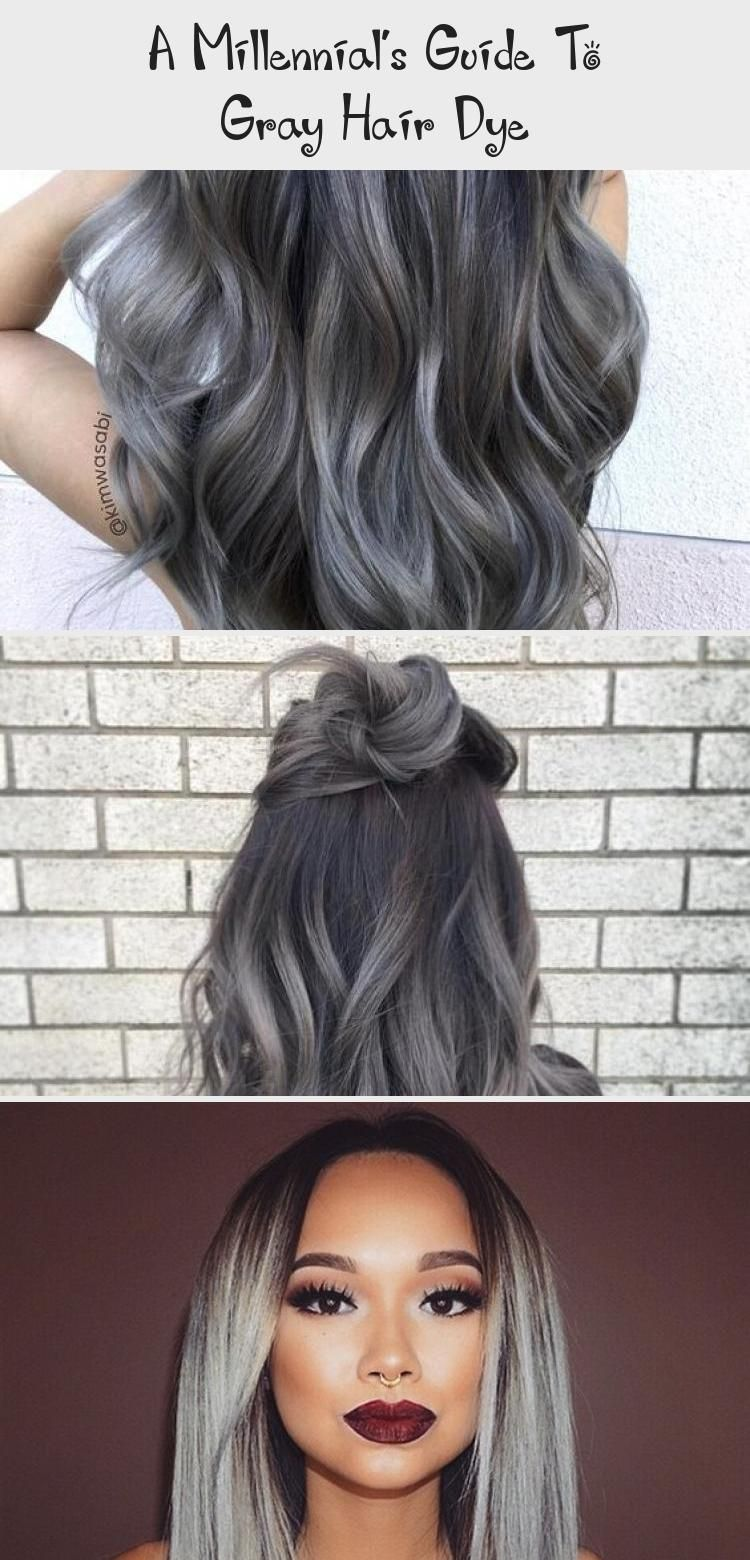 A Millennial S Guide To Gray Hair Dye Ash Blonde Silver Hairstyle On Point Lightgrayhair Grayhairwithbangs Gra In 2020 Grey Hair Dye Cool Hairstyles Hair Styles