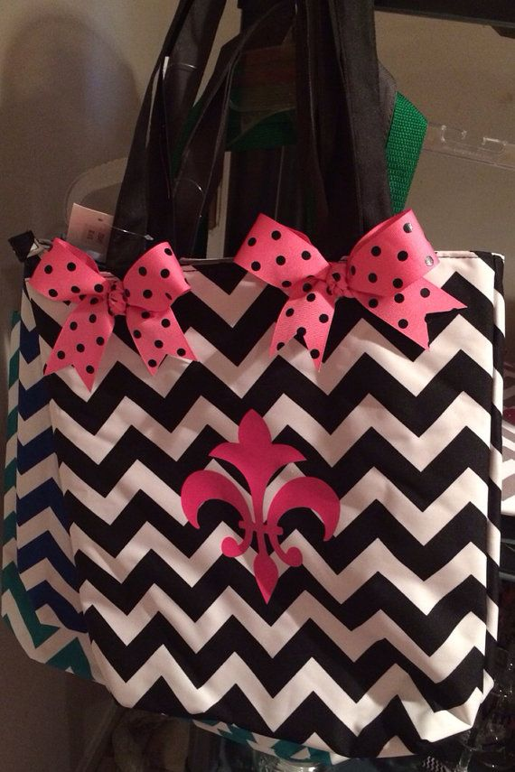 Chevron tote by fabulousfoofoos on Etsy, $20.00