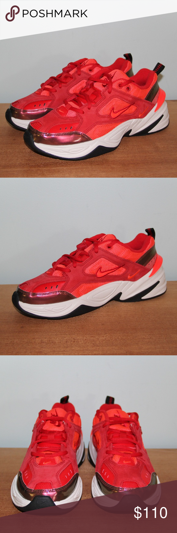 New Nike M2k Tekno Mesh Red Suede Women S Shoes New Without Box Women S Size 7 5 11 Available University Red Phanton Br Suede Shoes Women Red Suede New Nike