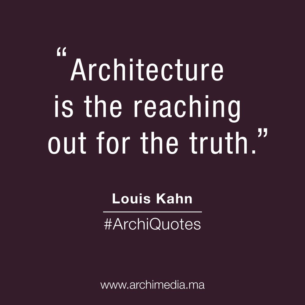 Quote Of The Day Architecture Archilovers Spruche