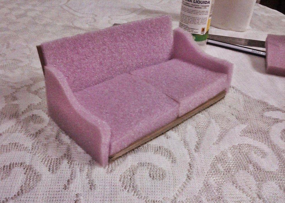 Manualidades para mu ecas sof muebles de sala - Como hacer un sofa paso a paso ...
