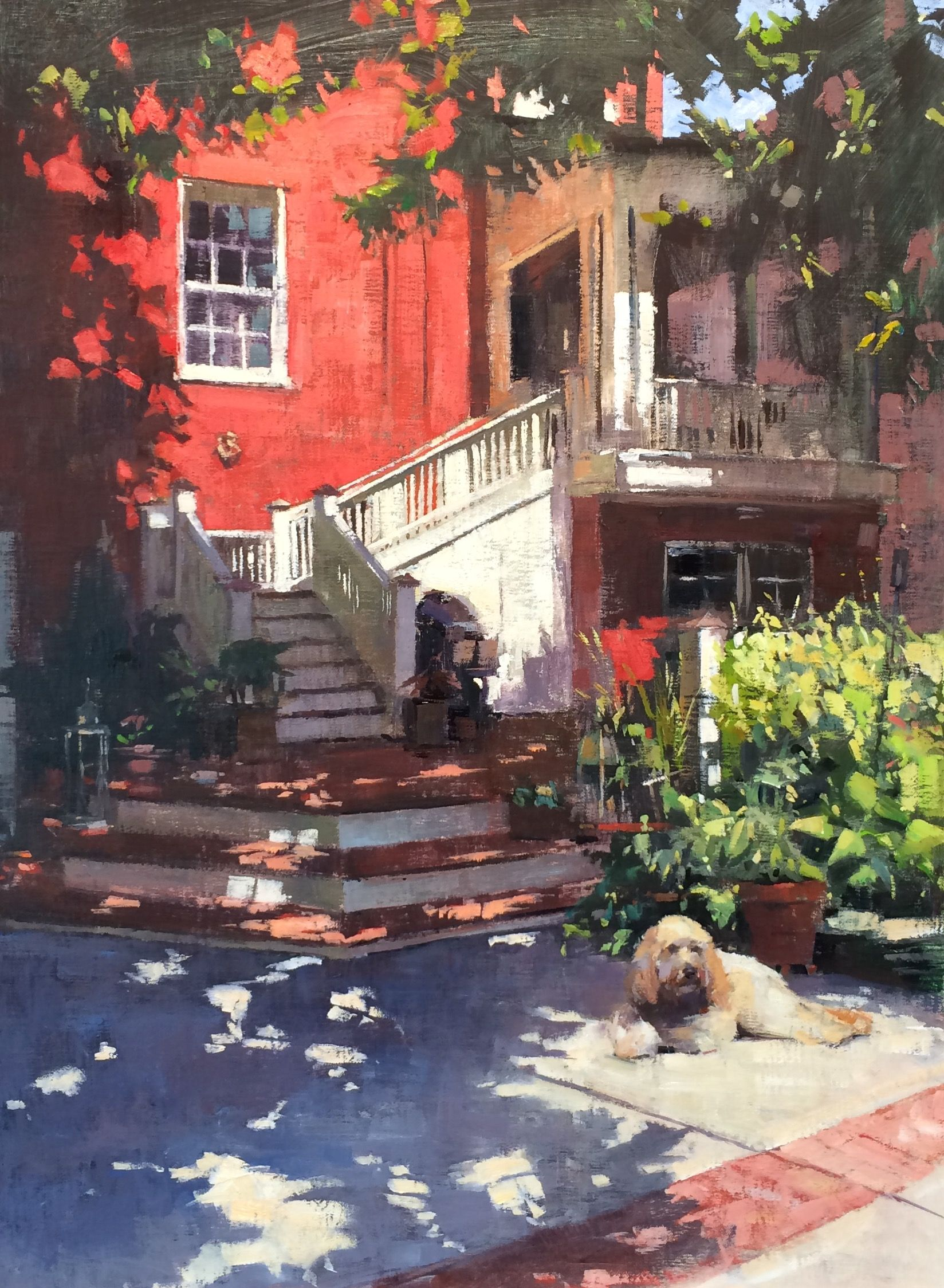 Reveling in Richmond Landscape paintings, Painting