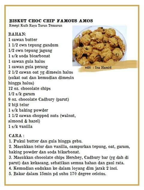 Chic Cip Famous Amos Famous Amos Cookie Recipe Cookie Recipes Famous Amos Cookies