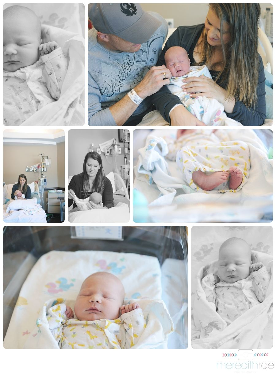 Kansas City Birth Photographer - meredithrae photography.  Hospital newborn pictures